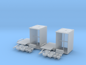 N 1:160 Tandem-Kühlanhänger in Smooth Fine Detail Plastic
