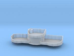 1/200 USN midship 4th deck starboard gun tub bofor in Smooth Fine Detail Plastic