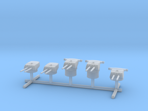 1/1250 IJN Type 50 year 3 turrets (8-inch) 1944 Se in Smooth Fine Detail Plastic