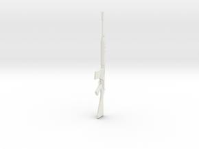 1:12 Miniature FN FAL Battle rifle in White Natural Versatile Plastic: 1:12