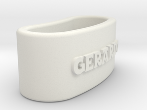 GERARDO napkin ring with daisy in White Natural Versatile Plastic
