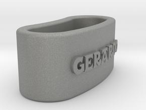GERARDO napkin ring with daisy in Gray PA12