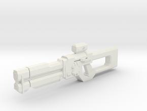 1:6 Miniature Tedioore Shotgun - Borderlands in White Natural Versatile Plastic
