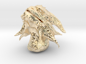 Dragon Head in 14K Yellow Gold: Small