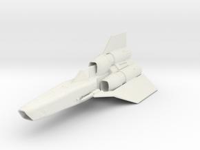 "Battlestar Galactica Viper II  4.8"" in White Natural Versatile Plastic"
