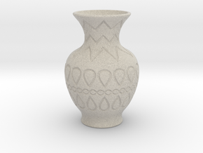 Vase_09 in Natural Sandstone