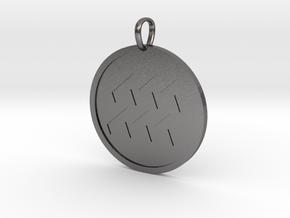 Aquaris Medallion in Polished Nickel Steel