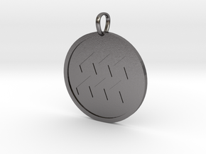 Aquaris Medallion in Polished Nickel Steel
