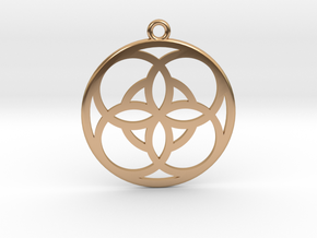 Double Vesica Piscis in Polished Bronze