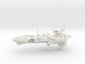Slaughter Class Cruiser  in White Natural Versatile Plastic