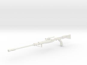 1:12 Miniature Tusken Sniper Rifle in White Natural Versatile Plastic: 1:12