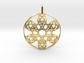 Etheric Reflector (Domed) in Polished Brass