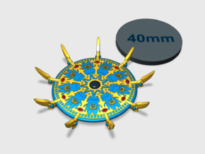 44mm Sorcerer's Disc - Scarab  in Smooth Fine Detail Plastic: Small