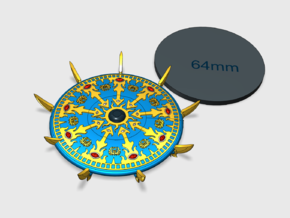 60mm - Sorcerer's Disc: Scarab in Smooth Fine Detail Plastic
