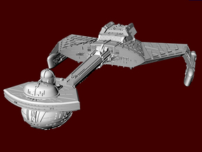 Enemy Battle Cruiser 005 in Smooth Fine Detail Plastic