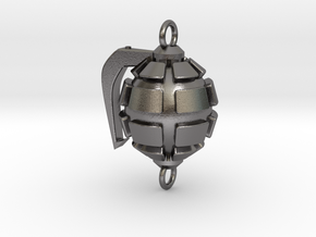 Bakugo's Grenade Gauntlets Charm in Polished Nickel Steel