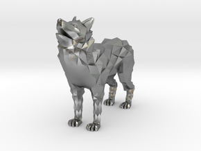 Timber wolf in Natural Silver