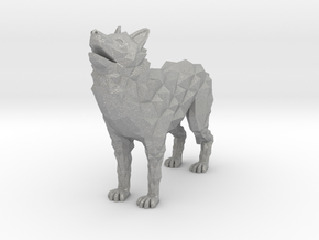 Timber wolf in Aluminum