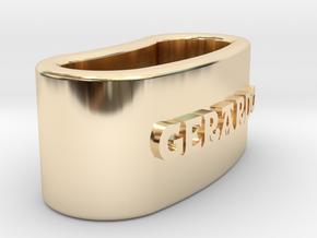 GERARDO napkin ring with daisy in 14K Yellow Gold