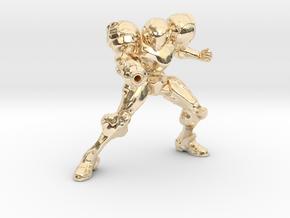 samus trophy in 14k Gold Plated Brass