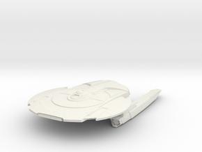 Federation Miranda Class IIA  Cruiser in White Natural Versatile Plastic