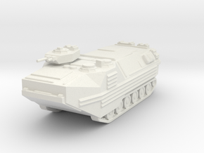 AAV-7 Assault Vehicle 1/120 in White Natural Versatile Plastic