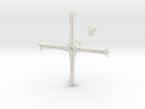Kugo Ginjo's Pendant in White Natural Versatile Plastic: Large