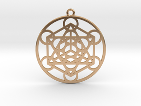 Metatron´s Cube in Polished Bronze