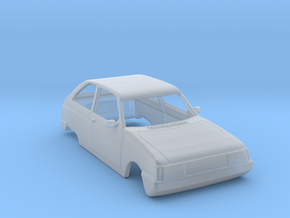 Oltcit (Citroen Axel) Body Scale 1:120 in Smooth Fine Detail Plastic