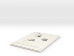 Towing Pin Plate TUG in White Natural Versatile Plastic