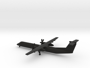 Bombardier Dash 8 Q400 in Black Natural Versatile Plastic: 1:350