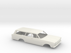 1/16 1966 Ford Station Wagon Shell in White Natural Versatile Plastic