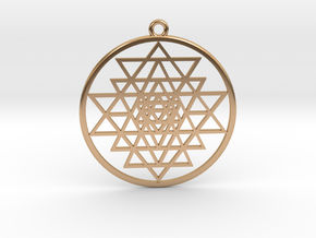 Sri Yantra pendant optimal in Polished Bronze