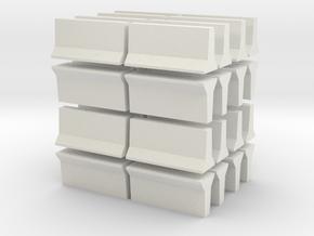 Barrier-OntarioTallWall-32 in White Natural Versatile Plastic