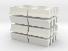 Barrier-FShape-32 in White Natural Versatile Plastic
