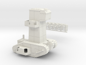15mm AQMF COMMAND TANK MK VI in White Natural Versatile Plastic