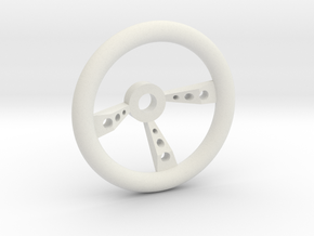 steeringwheel in White Natural Versatile Plastic