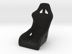1/6 scale racing seat & mounts in Black Natural Versatile Plastic