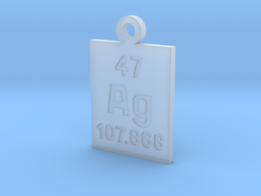 Ag Periodic Pendant in Smooth Fine Detail Plastic