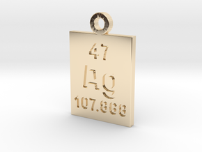Ag Periodic Pendant in 14K Yellow Gold