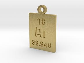Ar Periodic Pendant in Natural Brass