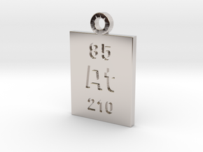 At Periodic Pendant in Rhodium Plated Brass