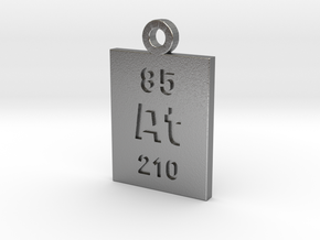 At Periodic Pendant in Natural Silver