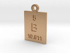 B Periodic Pendant in Natural Bronze