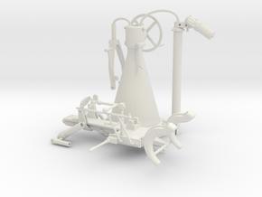 Pedestal mount for German 20mm Flak gun in 1:16 sc in White Natural Versatile Plastic