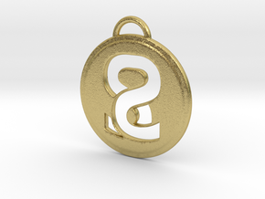 Sweaty Synergy Pendant in Natural Brass
