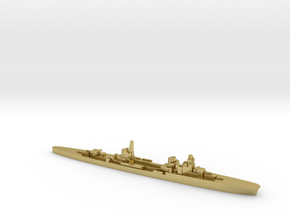 Duca d'Aosta light cruiser 1:2400 WW2 in Natural Brass