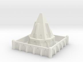 Epic Scale Imperial Temple Terrain in White Natural Versatile Plastic