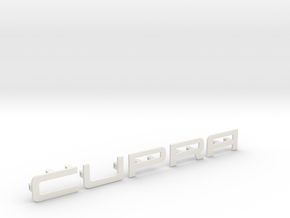 Cupra Lower Grill Letters, Full in White Natural Versatile Plastic