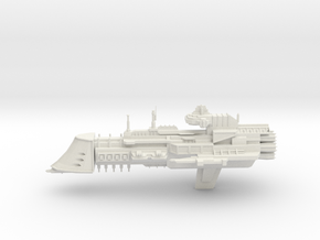 Navy Lunar Class Cruiser in White Natural Versatile Plastic